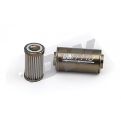 Fuel filter DW Inline, 110mm / 100 Mikronów - 8AN