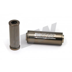 Fuel filter DW Inline, 160mm / 100 Mikronów - 8AN