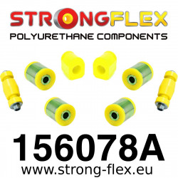 156078A: Front kit suspension polyurethane bushes SPORT