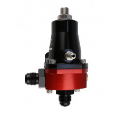 "Fuel pressure regulator Aeromotive Compact EFI, FPR Adjustable 30-70 PSI, AN-6 male inlet and return, 1/8"" NPT gauge port"