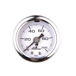 Fuel pressure gauge Aeromotive 0-100psi, 1/8 NPT