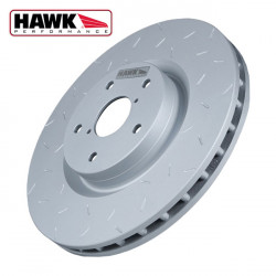 Brake disc Hawk Quiet Slot rear, 05-10 Ford Mustang GT / 08-09 Bullit 4.6 / 07-08 Shelby GT