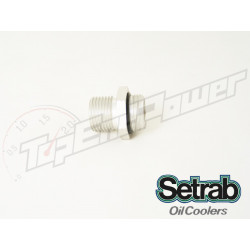 Setrab aluminum oil cooler fitting with o-ring M22 x 1/2BSP