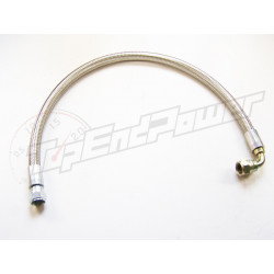 Oil cooler hose 100cm Moquip braided with steel fittings straight/90 degree -8AN