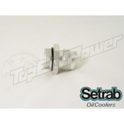 Setrab aluminum oil cooler fitting with o-ring M22 x -12JIC (-12AN)